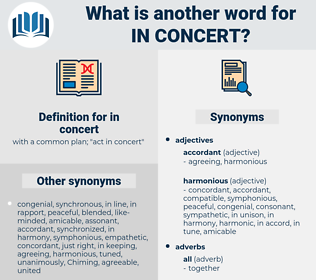 in concert, synonym in concert, another word for in concert, words like in concert, thesaurus in concert