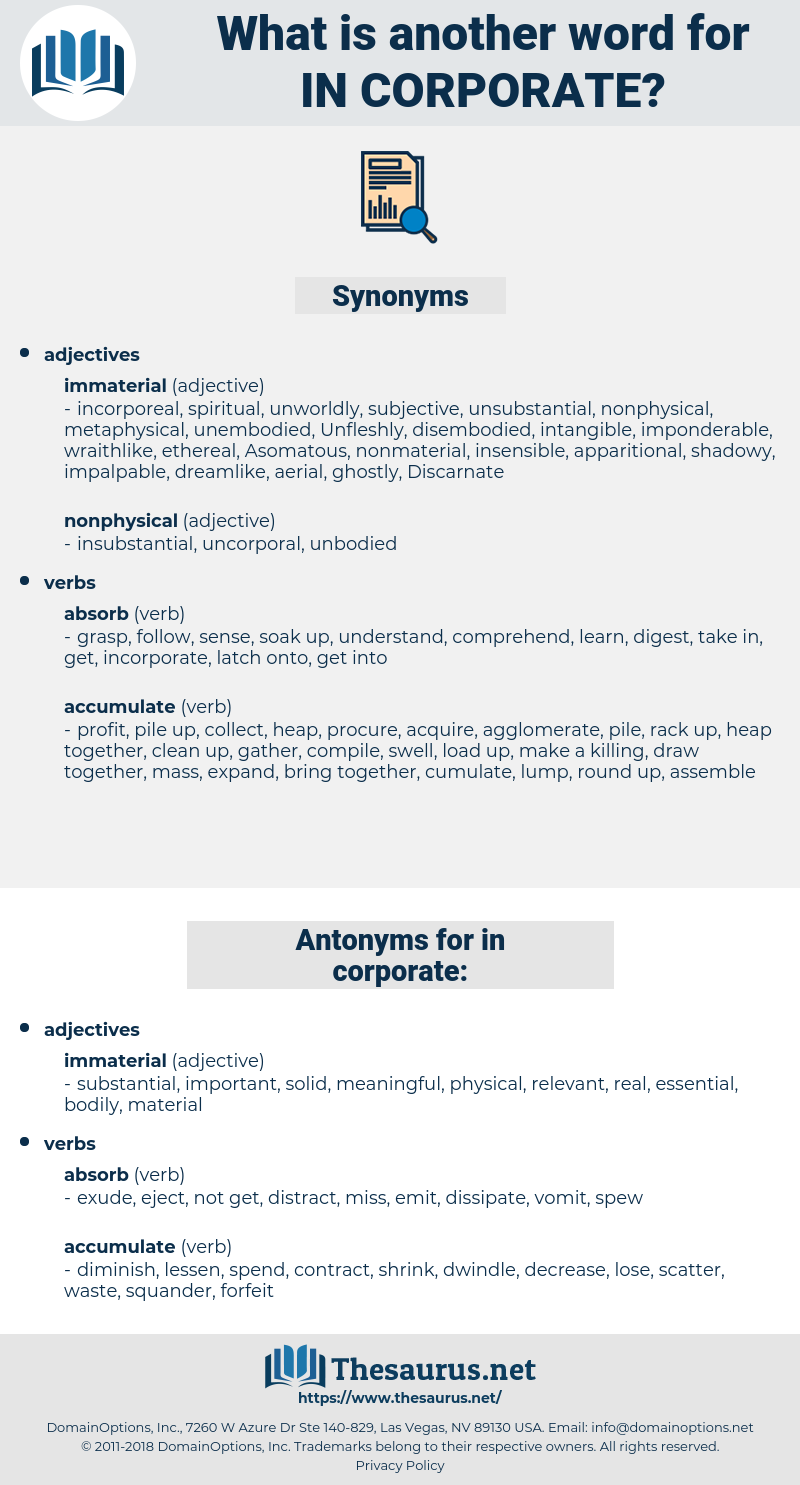 in-corporate, synonym in-corporate, another word for in-corporate, words like in-corporate, thesaurus in-corporate