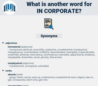 in corporate, synonym in corporate, another word for in corporate, words like in corporate, thesaurus in corporate