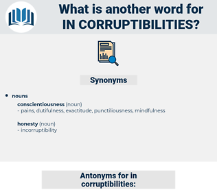 in corruptibilities, synonym in corruptibilities, another word for in corruptibilities, words like in corruptibilities, thesaurus in corruptibilities