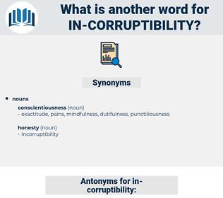 in-corruptibility, synonym in-corruptibility, another word for in-corruptibility, words like in-corruptibility, thesaurus in-corruptibility