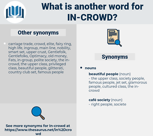 in-crowd, synonym in-crowd, another word for in-crowd, words like in-crowd, thesaurus in-crowd