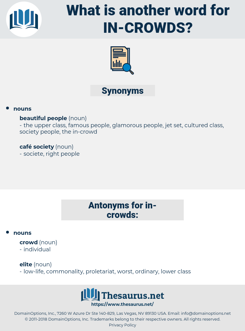in crowds, synonym in crowds, another word for in crowds, words like in crowds, thesaurus in crowds