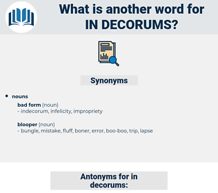 in decorums, synonym in decorums, another word for in decorums, words like in decorums, thesaurus in decorums