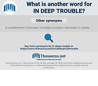 in deep trouble, synonym in deep trouble, another word for in deep trouble, words like in deep trouble, thesaurus in deep trouble