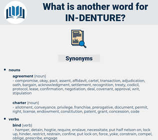 in denture, synonym in denture, another word for in denture, words like in denture, thesaurus in denture
