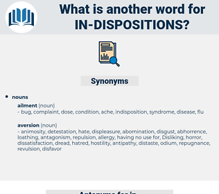 in dispositions, synonym in dispositions, another word for in dispositions, words like in dispositions, thesaurus in dispositions