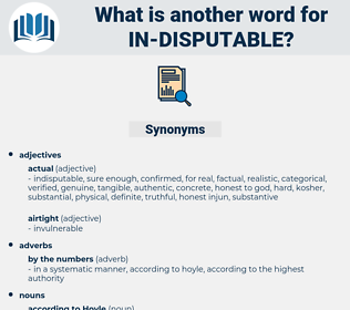 in disputable, synonym in disputable, another word for in disputable, words like in disputable, thesaurus in disputable