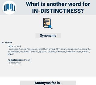 in-distinctness, synonym in-distinctness, another word for in-distinctness, words like in-distinctness, thesaurus in-distinctness