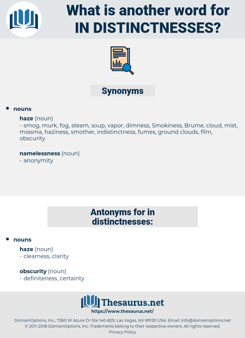 in-distinctnesses, synonym in-distinctnesses, another word for in-distinctnesses, words like in-distinctnesses, thesaurus in-distinctnesses