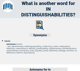 in-distinguishabilities, synonym in-distinguishabilities, another word for in-distinguishabilities, words like in-distinguishabilities, thesaurus in-distinguishabilities
