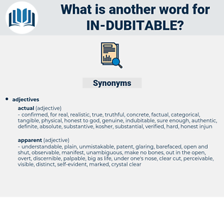 in dubitable, synonym in dubitable, another word for in dubitable, words like in dubitable, thesaurus in dubitable