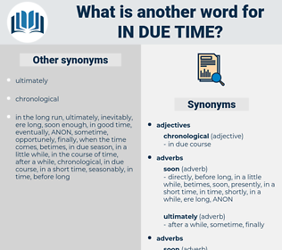 in due time, synonym in due time, another word for in due time, words like in due time, thesaurus in due time