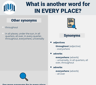 in every place, synonym in every place, another word for in every place, words like in every place, thesaurus in every place