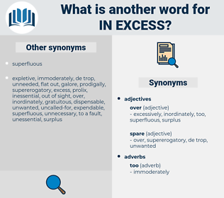 in excess, synonym in excess, another word for in excess, words like in excess, thesaurus in excess