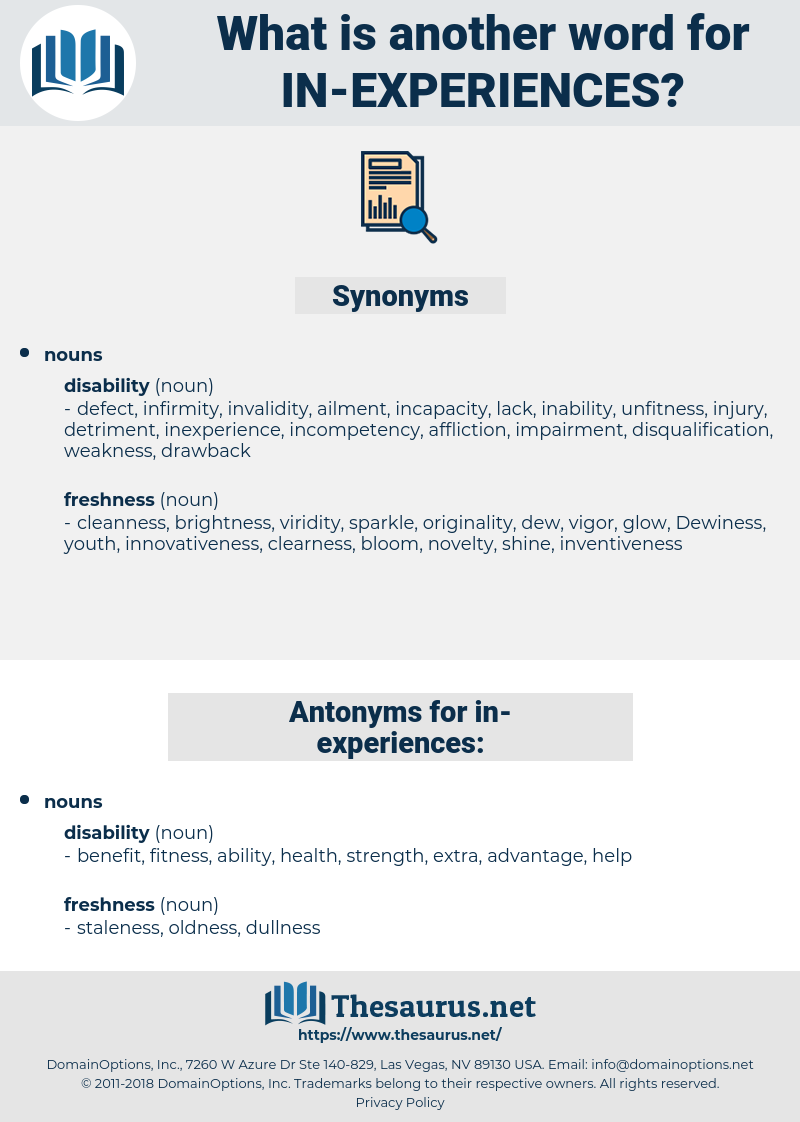 in-experiences, synonym in-experiences, another word for in-experiences, words like in-experiences, thesaurus in-experiences
