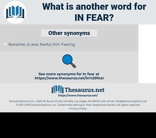 in fear, synonym in fear, another word for in fear, words like in fear, thesaurus in fear