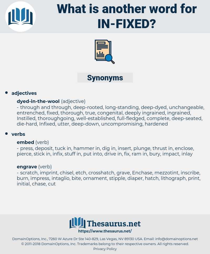 in fixed, synonym in fixed, another word for in fixed, words like in fixed, thesaurus in fixed