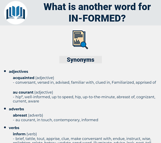 in-formed, synonym in-formed, another word for in-formed, words like in-formed, thesaurus in-formed