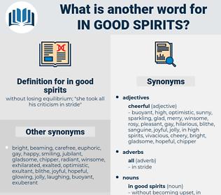 in good spirits, synonym in good spirits, another word for in good spirits, words like in good spirits, thesaurus in good spirits