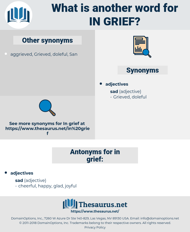 in grief, synonym in grief, another word for in grief, words like in grief, thesaurus in grief