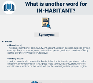 in habitant, synonym in habitant, another word for in habitant, words like in habitant, thesaurus in habitant