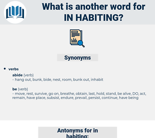 in habiting, synonym in habiting, another word for in habiting, words like in habiting, thesaurus in habiting