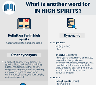 in high spirits, synonym in high spirits, another word for in high spirits, words like in high spirits, thesaurus in high spirits