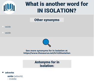 in isolation, synonym in isolation, another word for in isolation, words like in isolation, thesaurus in isolation