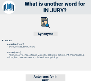 in jury, synonym in jury, another word for in jury, words like in jury, thesaurus in jury