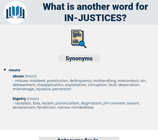 in justices, synonym in justices, another word for in justices, words like in justices, thesaurus in justices