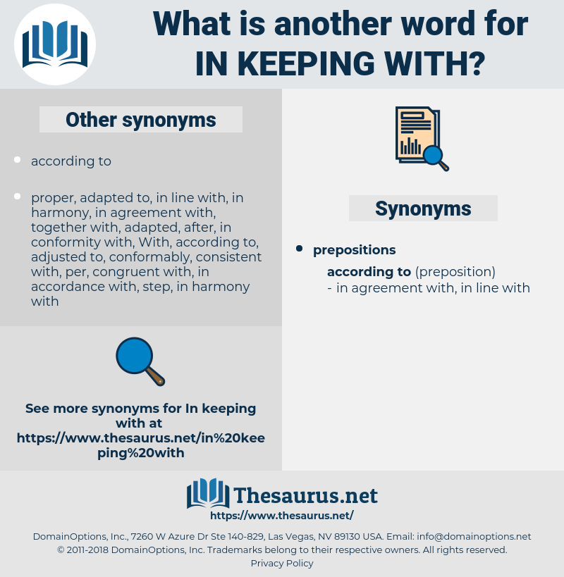 Synonyms For In Keeping With Thesaurus