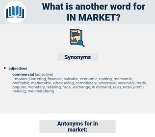 in market, synonym in market, another word for in market, words like in market, thesaurus in market