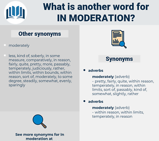 in moderation, synonym in moderation, another word for in moderation, words like in moderation, thesaurus in moderation