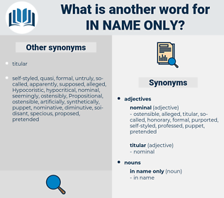 in name only, synonym in name only, another word for in name only, words like in name only, thesaurus in name only