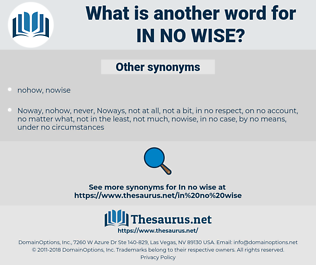in no wise, synonym in no wise, another word for in no wise, words like in no wise, thesaurus in no wise