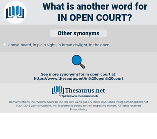 in open court, synonym in open court, another word for in open court, words like in open court, thesaurus in open court