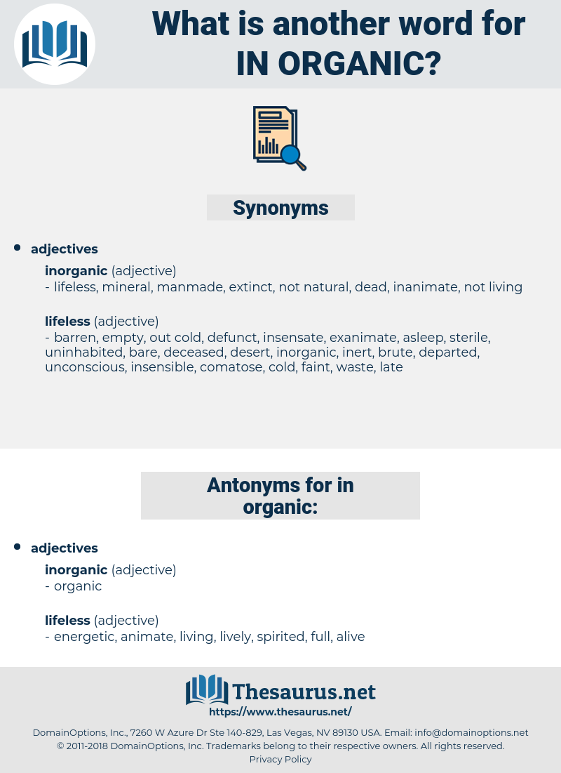 in organic, synonym in organic, another word for in organic, words like in organic, thesaurus in organic