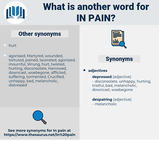 in pain, synonym in pain, another word for in pain, words like in pain, thesaurus in pain