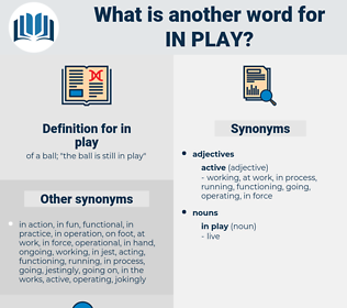 in play, synonym in play, another word for in play, words like in play, thesaurus in play