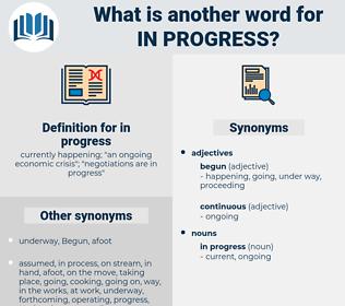 in progress, synonym in progress, another word for in progress, words like in progress, thesaurus in progress