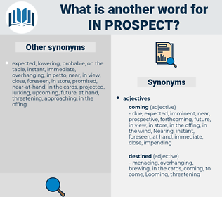 in prospect, synonym in prospect, another word for in prospect, words like in prospect, thesaurus in prospect