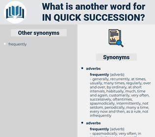 in quick succession, synonym in quick succession, another word for in quick succession, words like in quick succession, thesaurus in quick succession