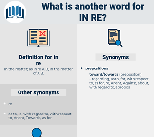 in re, synonym in re, another word for in re, words like in re, thesaurus in re