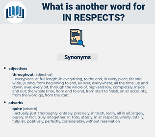 in respects, synonym in respects, another word for in respects, words like in respects, thesaurus in respects
