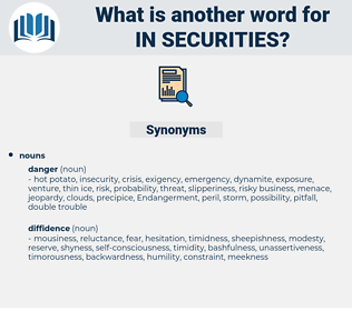 in-securities, synonym in-securities, another word for in-securities, words like in-securities, thesaurus in-securities