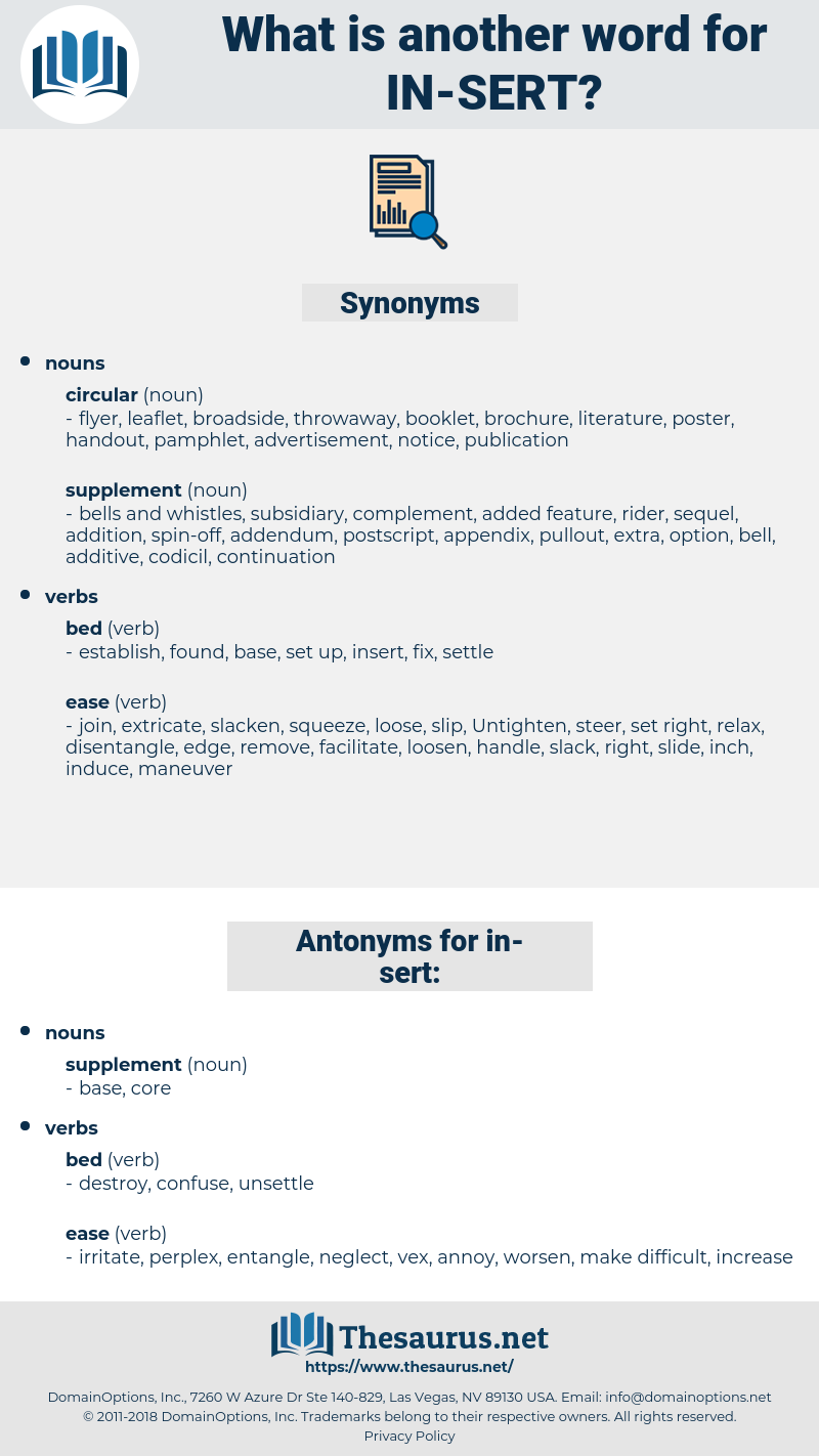 in sert, synonym in sert, another word for in sert, words like in sert, thesaurus in sert