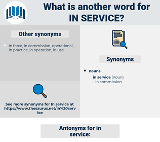 in service, synonym in service, another word for in service, words like in service, thesaurus in service