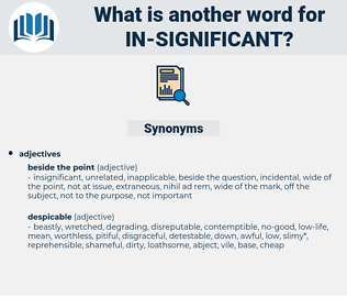 in significant, synonym in significant, another word for in significant, words like in significant, thesaurus in significant
