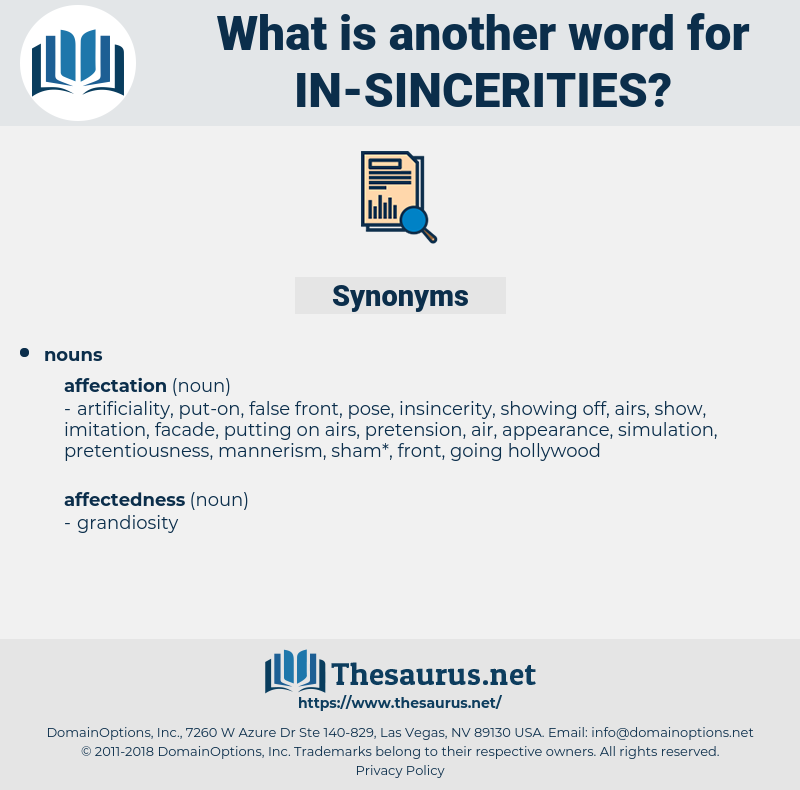 in sincerities, synonym in sincerities, another word for in sincerities, words like in sincerities, thesaurus in sincerities